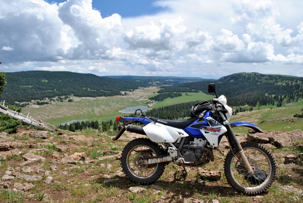 Riding over Blair Mountain, Colorado Flattops