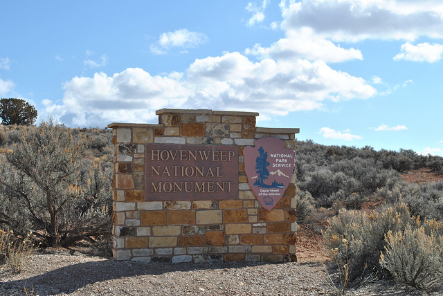 Hovenweep National Monument Entry Sign