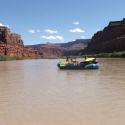 Lazy water on a Cataract Canyon trip