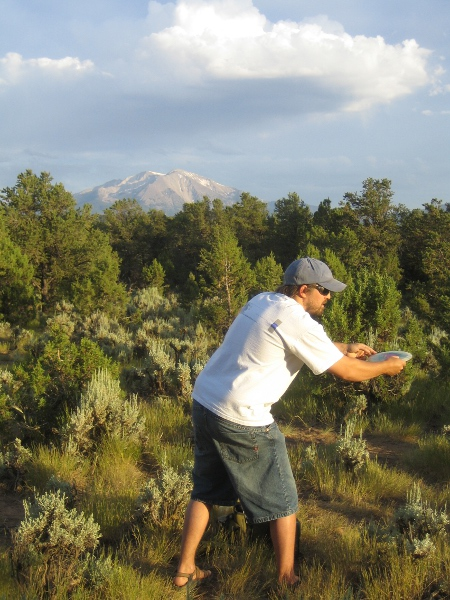 Disc golfing at CMC Spring Valley, Glenwood Springs