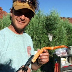 Crab legs on the river