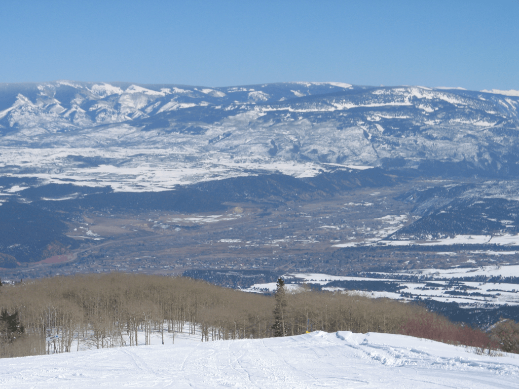 Carbondale Colorado as seen from Sunlight Mountain